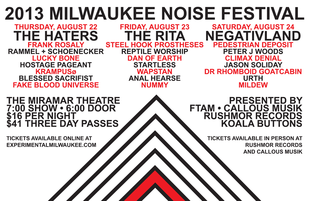 Milwaukee Noise Festival 2013 Flier